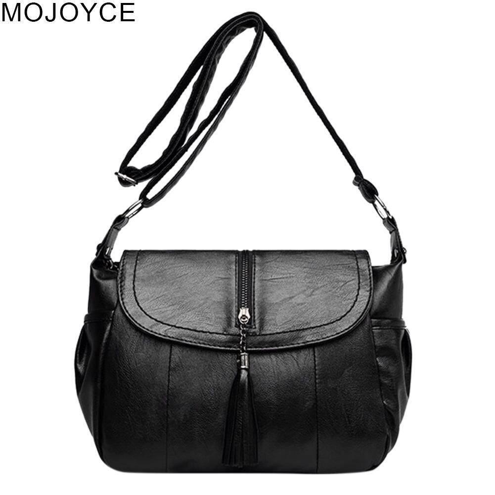 6acbf238dc MOJOYCE Women Casual Tassel Messenger Handbags Big Capacity Shoulder PU Leather  Bag