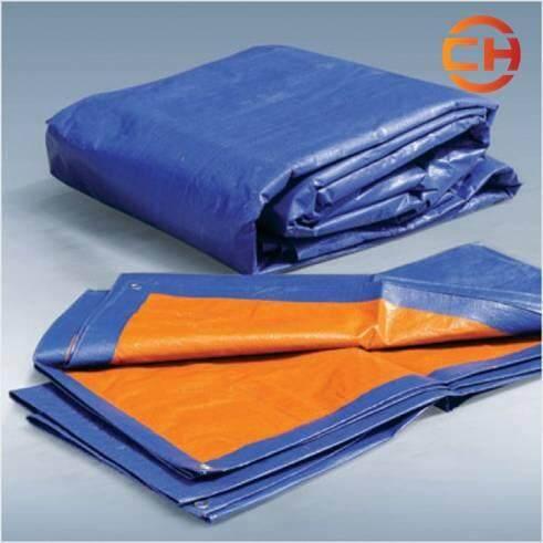 Canvas 10 x 12 (Blue Orange) Waterproof Ready Made Sheet TARPAULIN