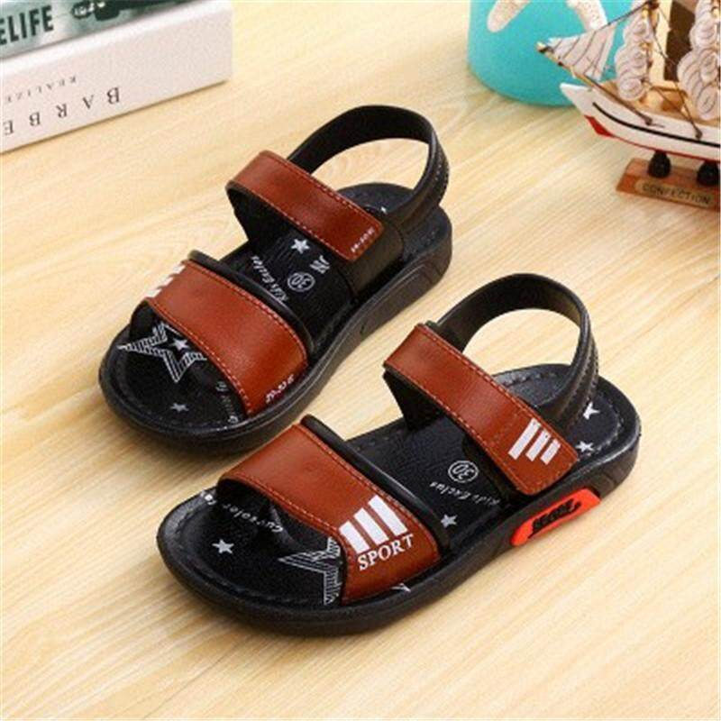 Boy Sandals 2018 New Childrens Beach Shoes Non-Slip Soft Sandals Middle Child Summer Kids Shoes Size21-35 By Cn Pioneer.