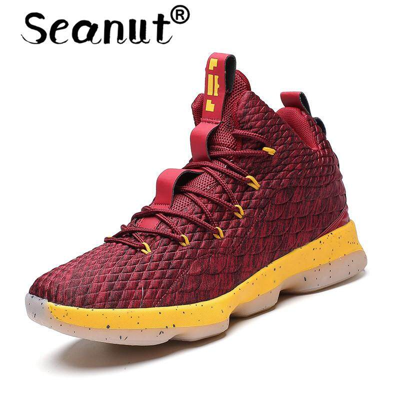 4886c52117d Seanut Basketball Shoes Men Women Athletic Breathable Outdoor Sneakers Wear  Resistant Non-slip Mid