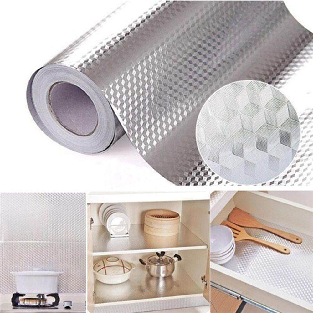 40*100cm Aluminum Foil Self Adhesive Waterproof Wallpaper For Kitchen Sticker By Best Land