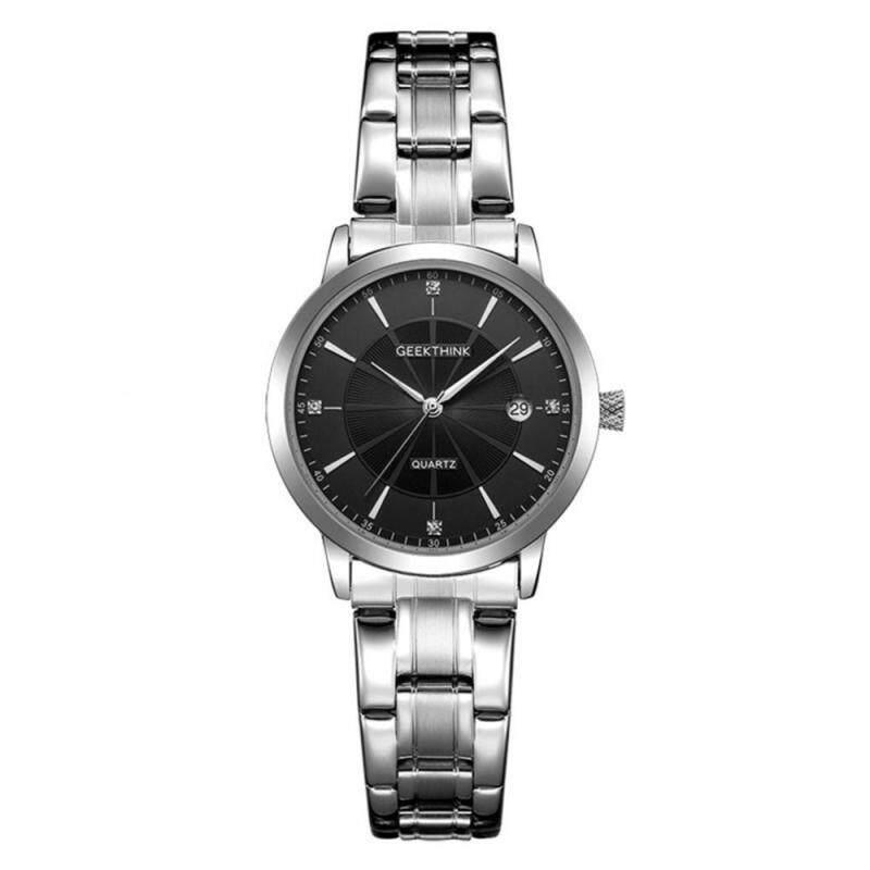 6 Types Geekthink 30m Waterproof Quartz Analog Watch Stainless Steel Strap Round Wristwatch Malaysia