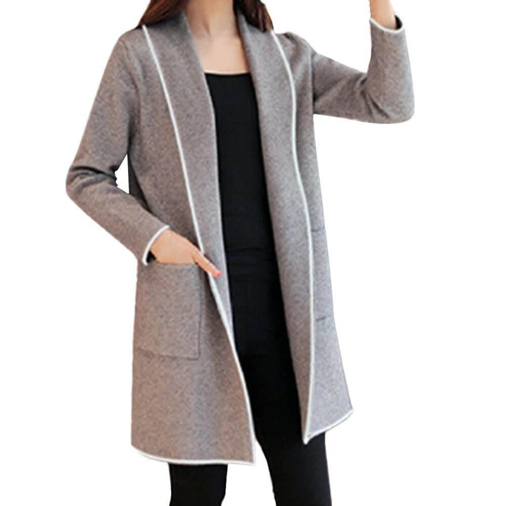 051e40c514ba0 Quantvie Womens Winter Loose Wild Elegant Windbreaker Sweater Coat Cardigan