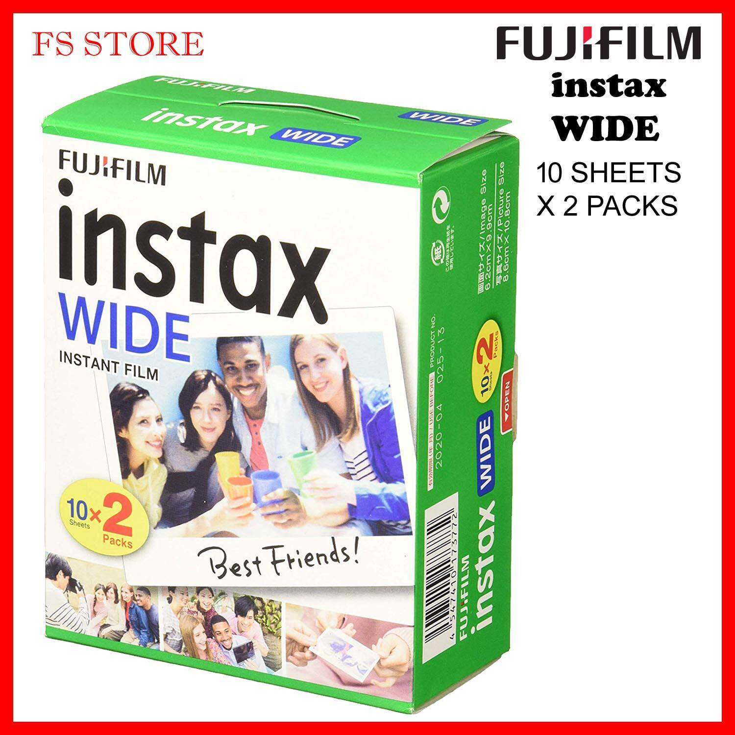 Fujifilm Original Malaysia Instax Wide Film Twin (10 Sheets X 2 Packs) Expired 03/ 2020 By Fs Store