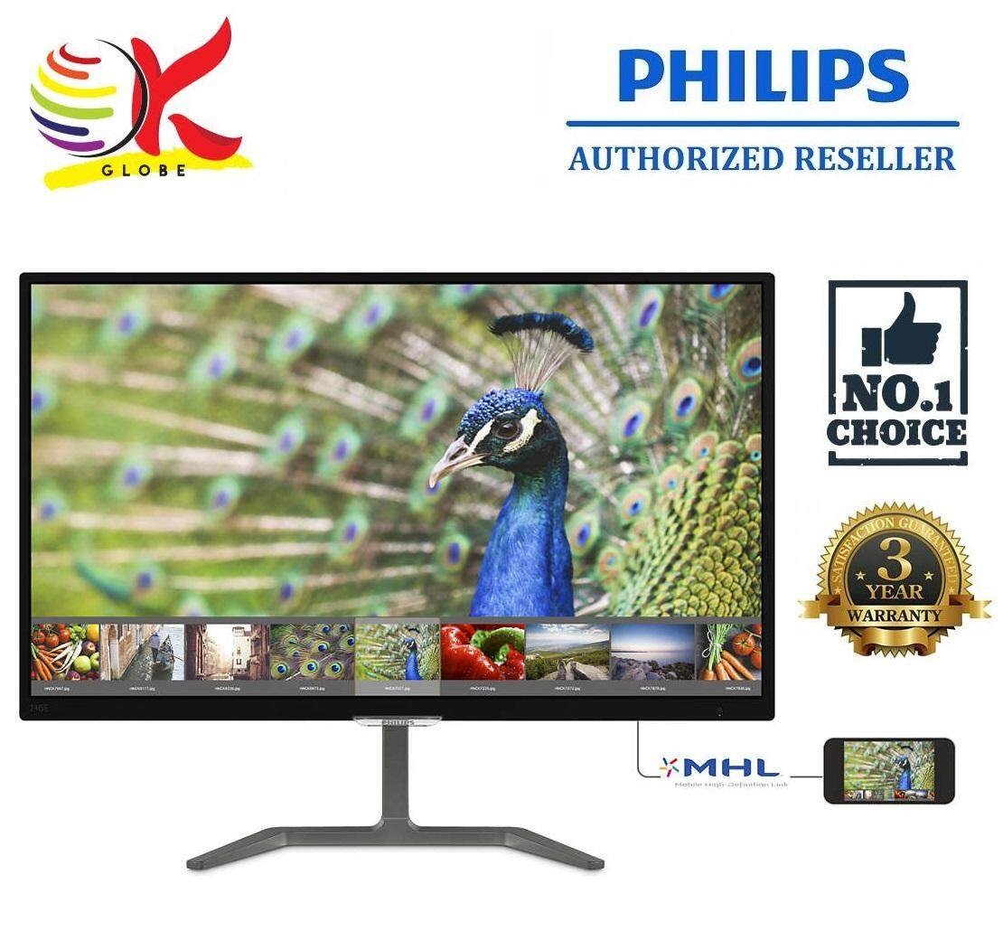GENUINE PHILIPS LED FLAT IPS FHD 23.6 246E7QDAB/69 LCD MONITOR (5MS/VGA/DVI/HDMI/MHL/VESA) BLACK Malaysia