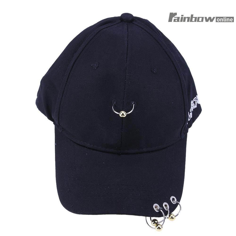 Men&women Hat Iron Ring Hip Hop Curved Strapback Baseball Cap Hat By Rainbowonline.
