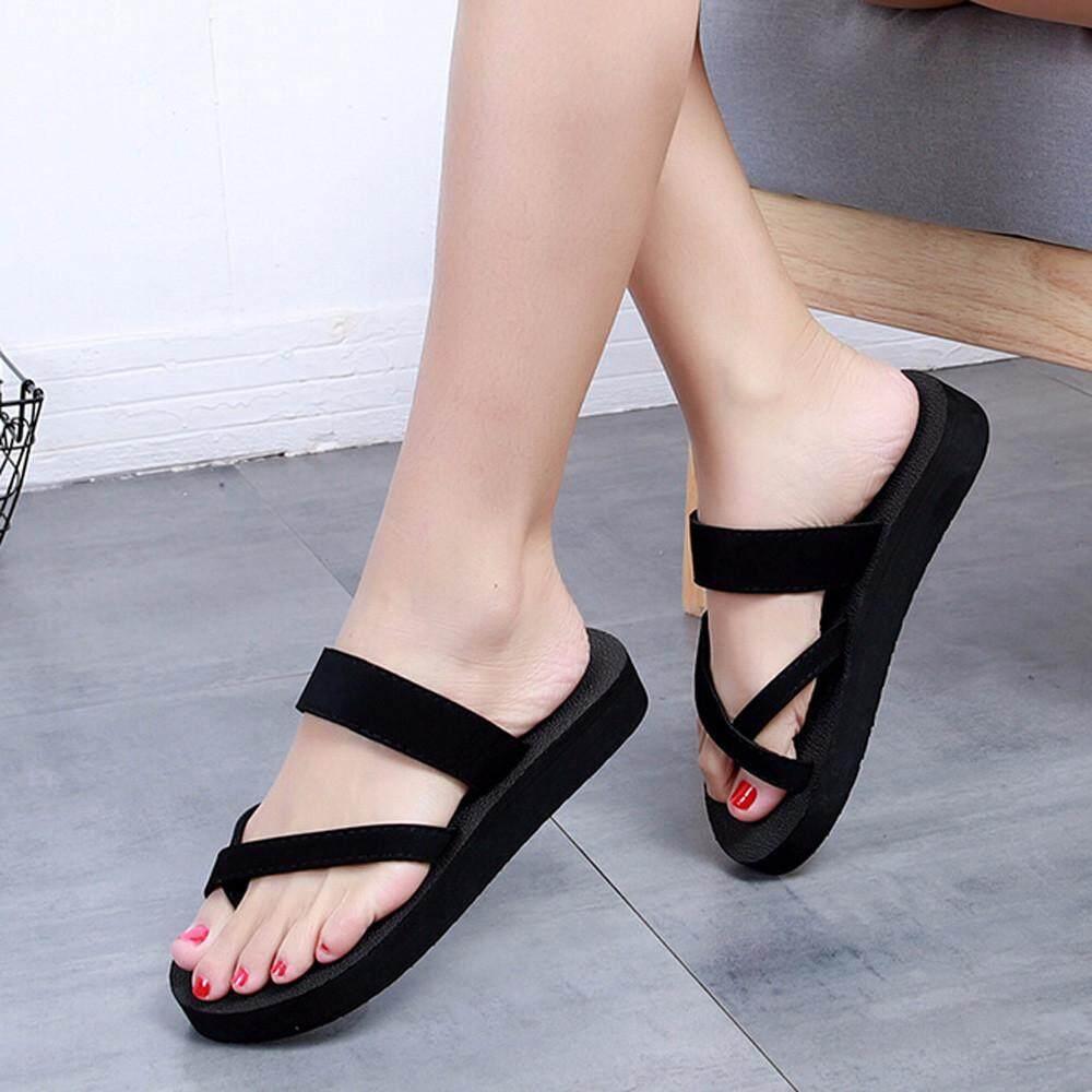 ecee2674d920 GUO Womens Summer Flip Flops Casual Slippers Flat Sandals Beach Open Toe  Shoes