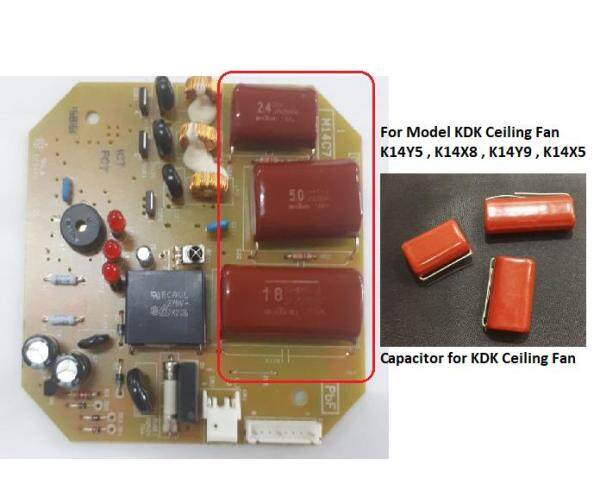 Capacitor Combo Set for KDK Ceiling Fan PCB Board (Optional with individual capacitors and soldering kits)