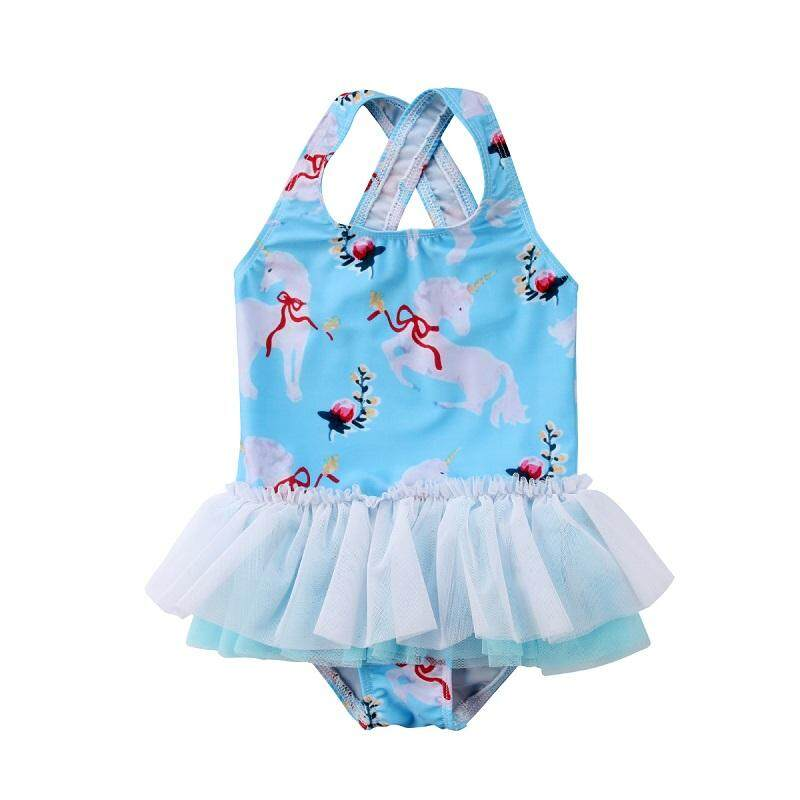 Toddler Kids Baby Girls Cartoon Swimwear Swimsuit Bathing Bikini Beachwear By Gl1297 Store.
