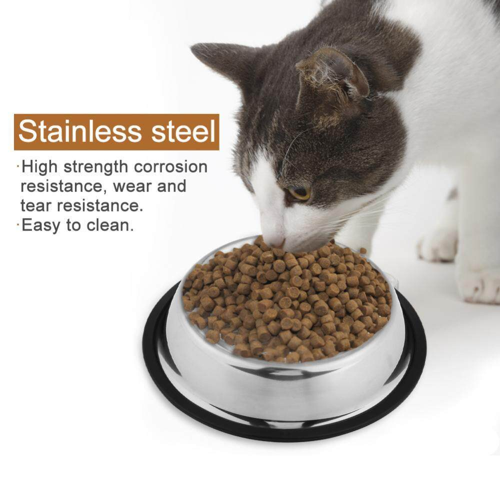 Stainless Steel Dog Pet Food Water Bowl Water Dish (18cm) By Epayst.