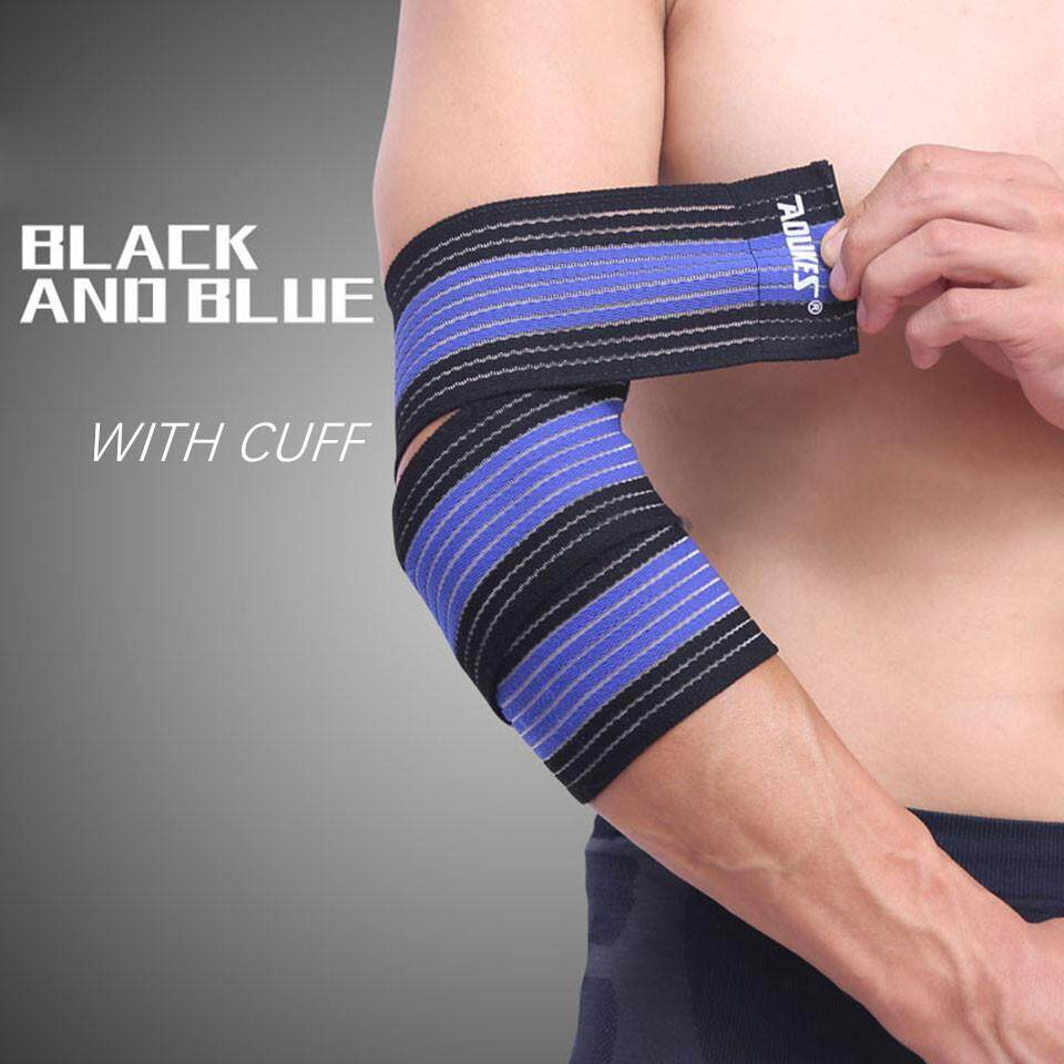 2PCS / 1 Pair High Elastic Bandage Wrap Basketball arm Compression Tape Elbow Support Tennis Volleyball