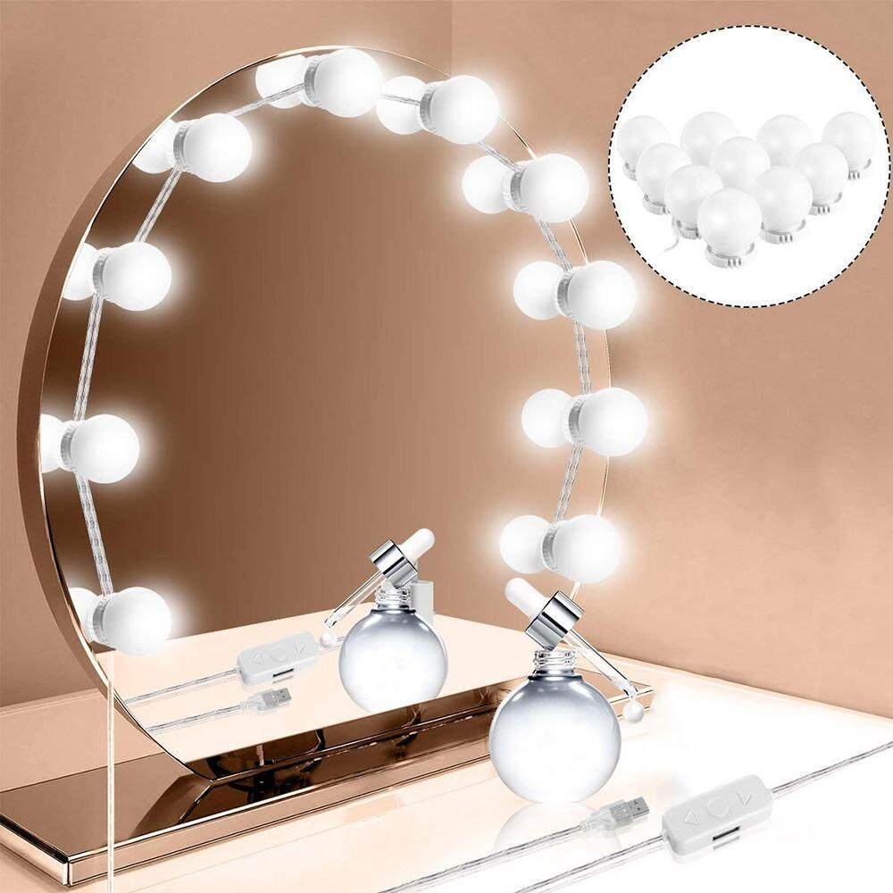 Nicee Hollywood Style Led Vanity Mirror Lights Kit With 10 Dimmable Light Bulbs For Makeup Dressing