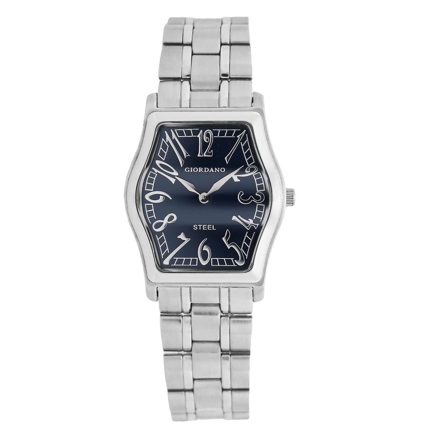 Giordano All Stainless Steel Special Designed cutting Glass Men Watch -SB3237-BL Malaysia