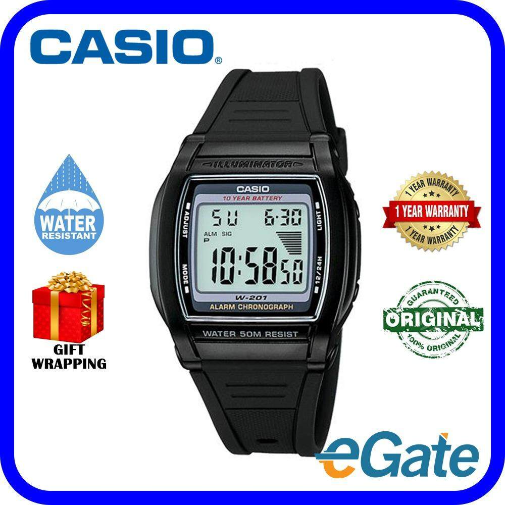 Casio Watches With Best Price At Lazada Malaysia Outgear Sgw 300hd 1av Jam Tangan Pria Strap Stainless Steel Silver W 201 1a Digital Unisex Watch Black Grey Casual Original