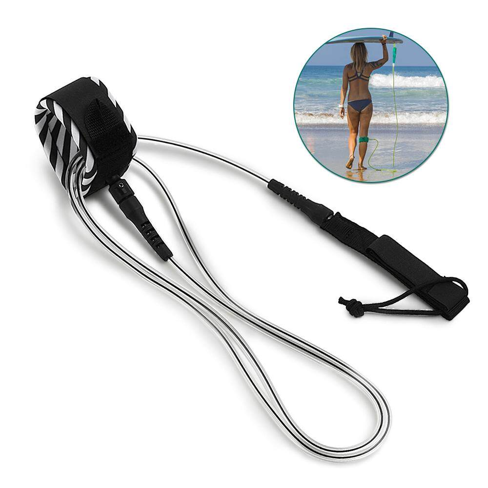 Surf Leash Surfing Surfboard Leash Smooth Steel Swivel Surfing Leg Rope Paddleboard Leash 6ft By Tomtop.