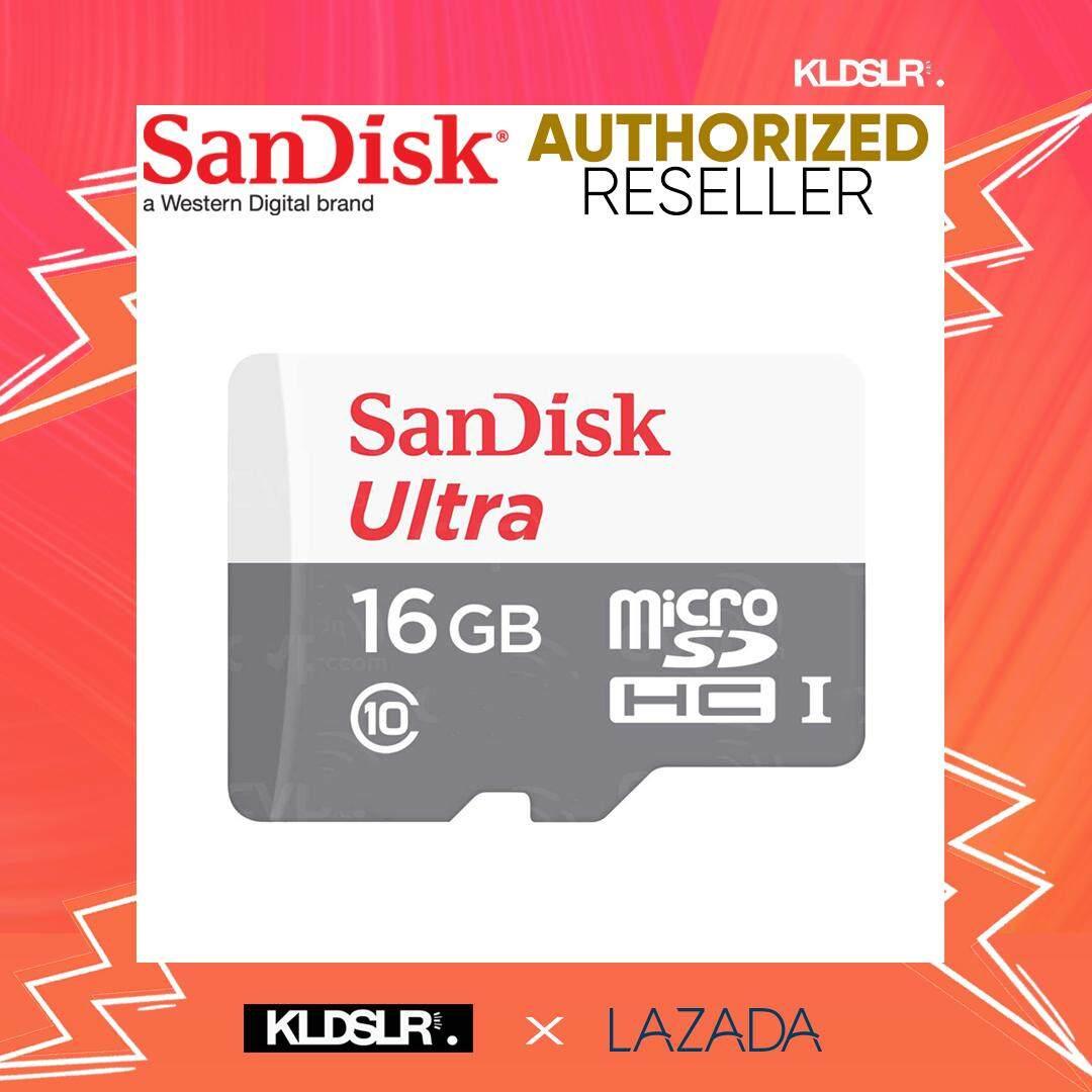 SanDisk Ultra 16GB 80MB/s 533x C10 microSDHC UHS-I Memory Card (SDSQUNS