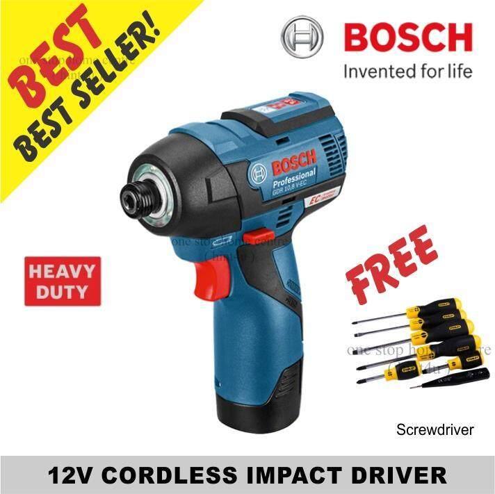 ( Free Stanley Screwdriver ) Bosch GDR 12V-EC Cordless Impact Driver