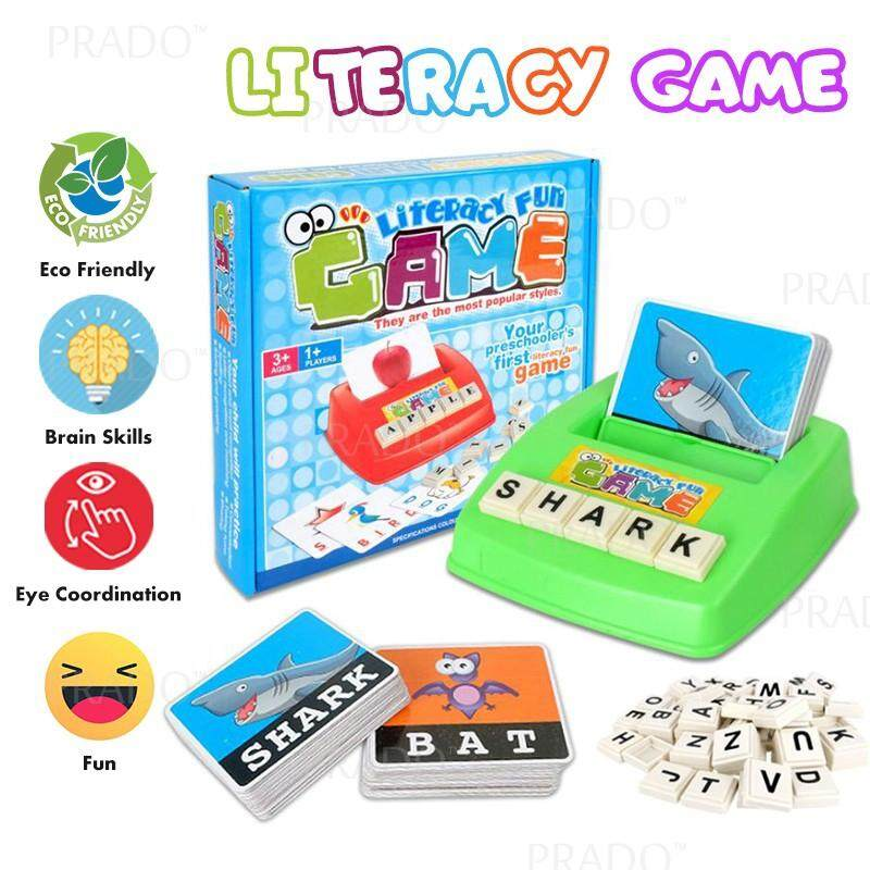 Prado Baby Kids Toys Literacy English Card Spelling Early Learning Reading Fun Game By Prado.