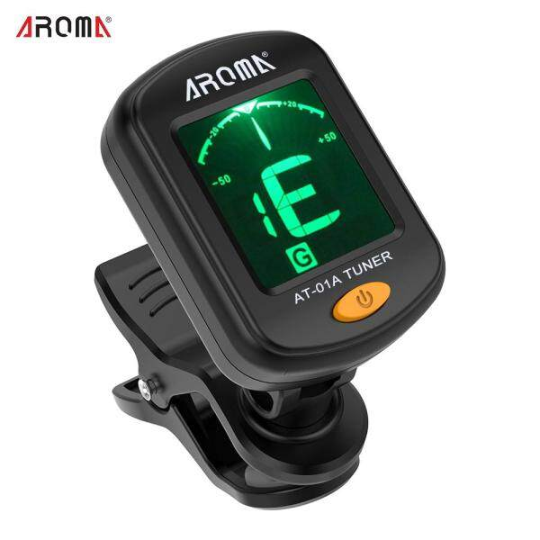 AROMA AT-01A Rotatable Clip-on Tuner LCD Display for Chromatic Guitar Bass Ukulele Violin Malaysia