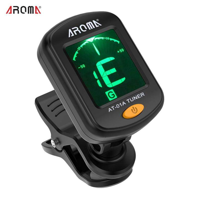 AROMA AT-01A Rotatable Clip-on Tuner LCD Display for Chromatic Guitar Bass Ukulele Violin (Local delivery 2 days arrival) Malaysia