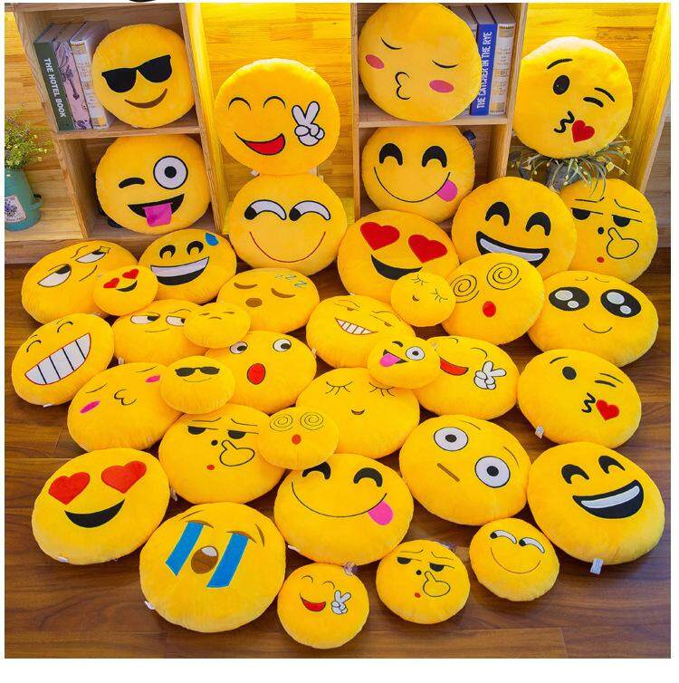 20CM Emoji Emotion Soft Stuffed Plush Round Cushion Pillows Toy Doll Decor  - Design B 0633249639