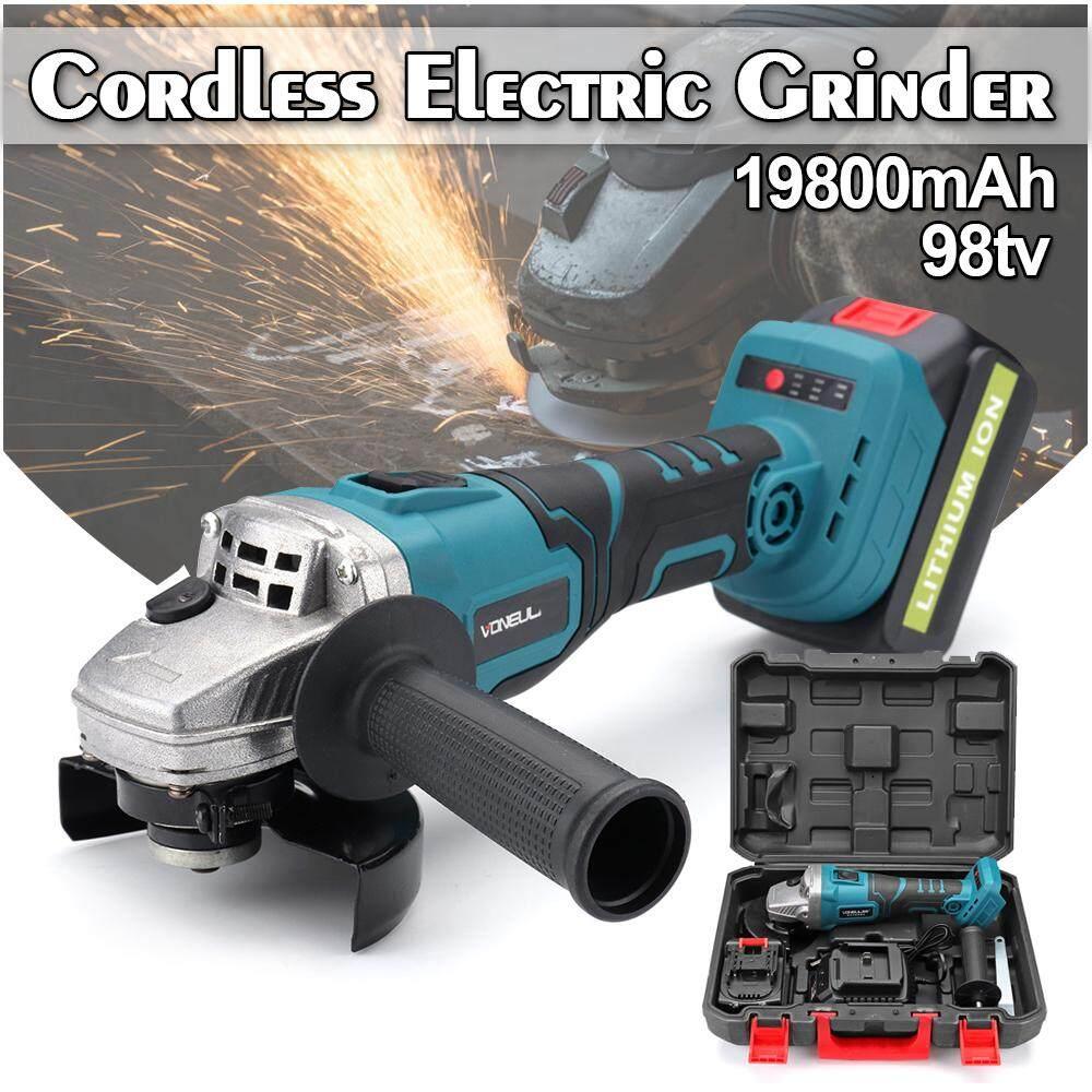 48V Angle Grinder Cordless Brushless Electric 198000mAh Li-ion 100mm High Power