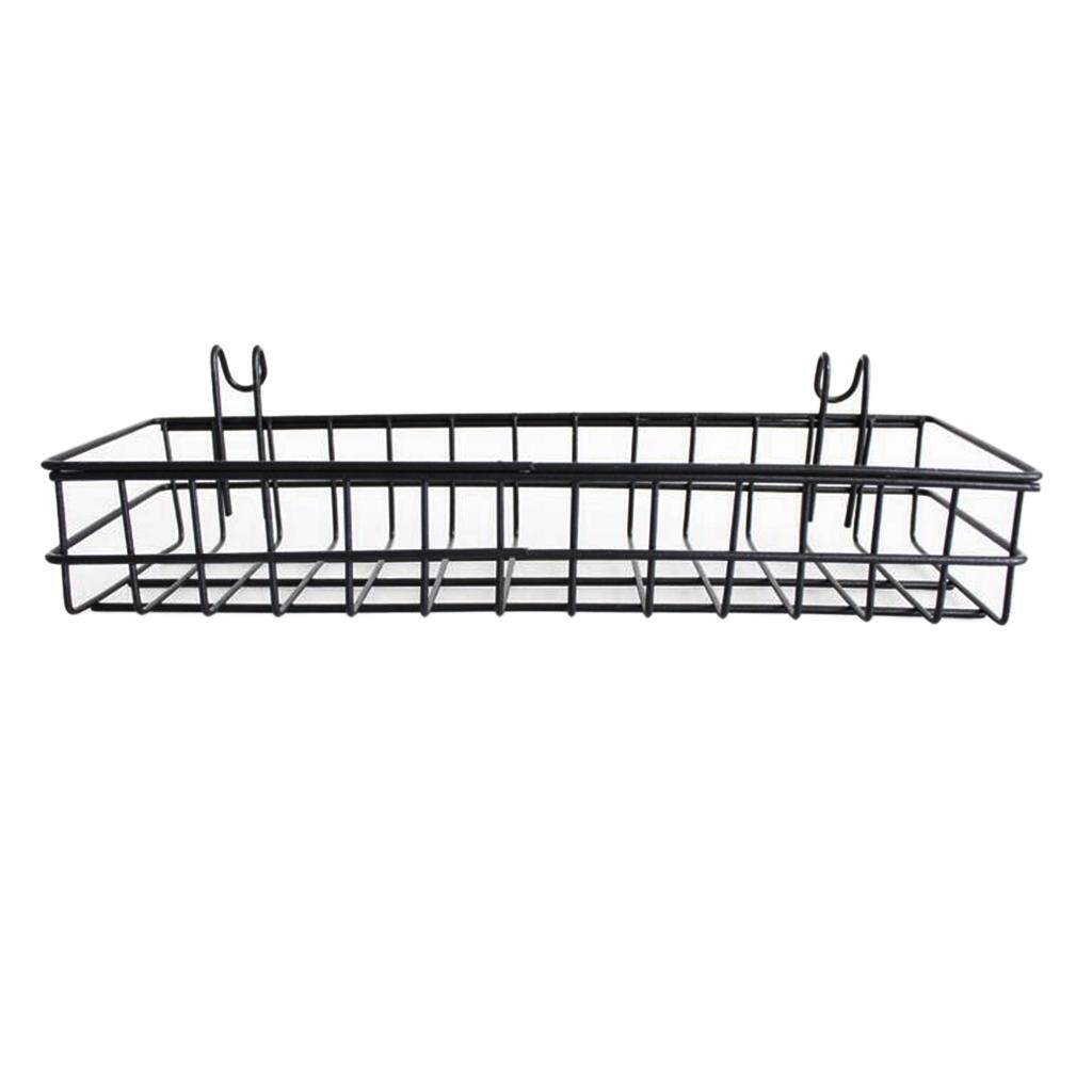 3x Metal Shelf//Basket Hanging Rail Wall Mounted Storage Display Rack 40x10cm