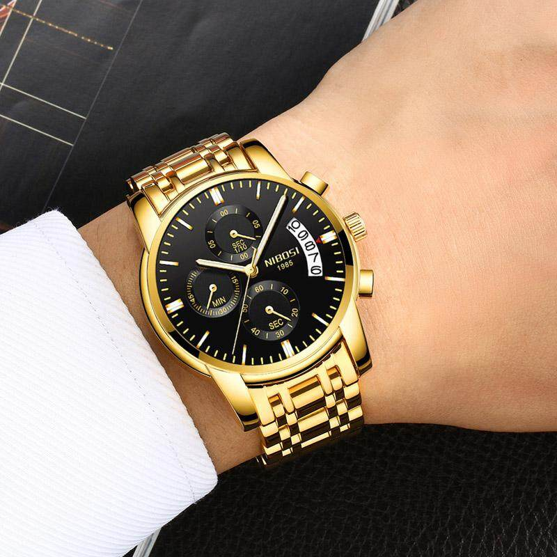 NIBOSI Men Watches Luxury Waterproof Business Casual Dress Watch Fashion  Classic Simple Date Calendar Stainless Steel Male Teenage Gift Wristwatch  Malaysia 7b2378d57cfd