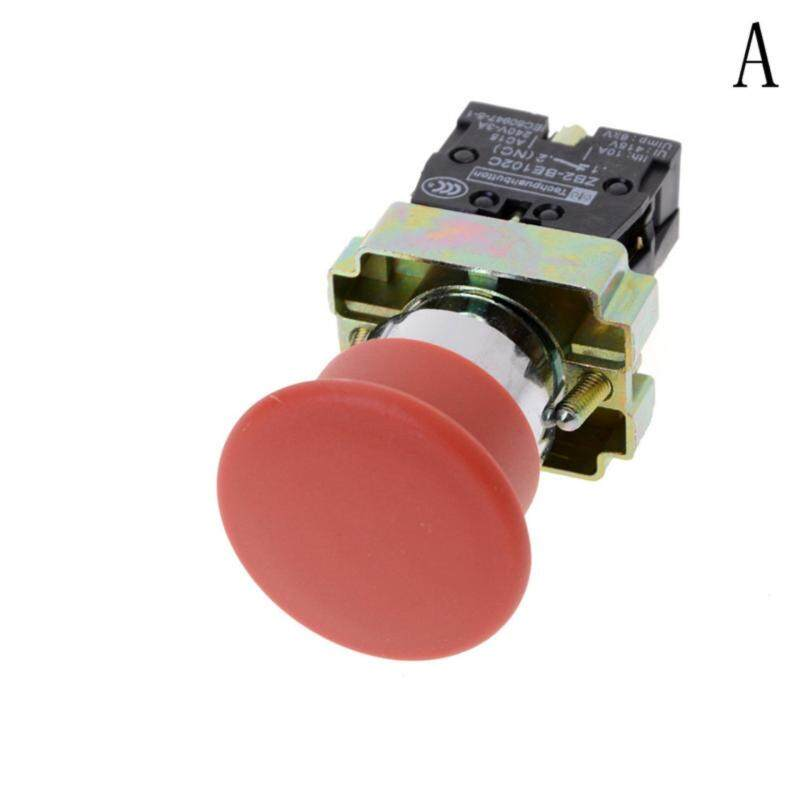 22mm NC N/C Red Mushroom Emergency Stop Push Button Switch  Type:A