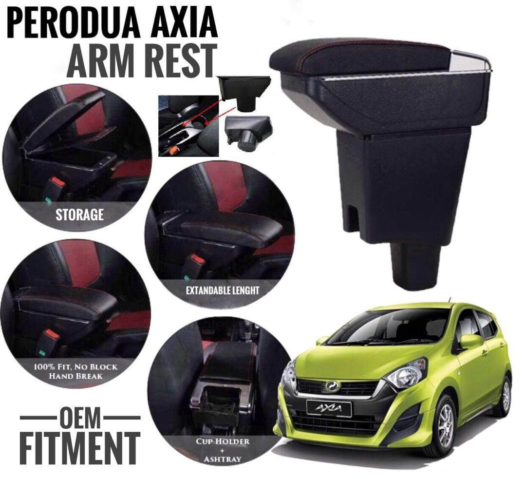 Perodua Axia Arm Rest Axia OEM Adjustable Arm Rest Axia Consoles Box Axia Storage Compartment OEM