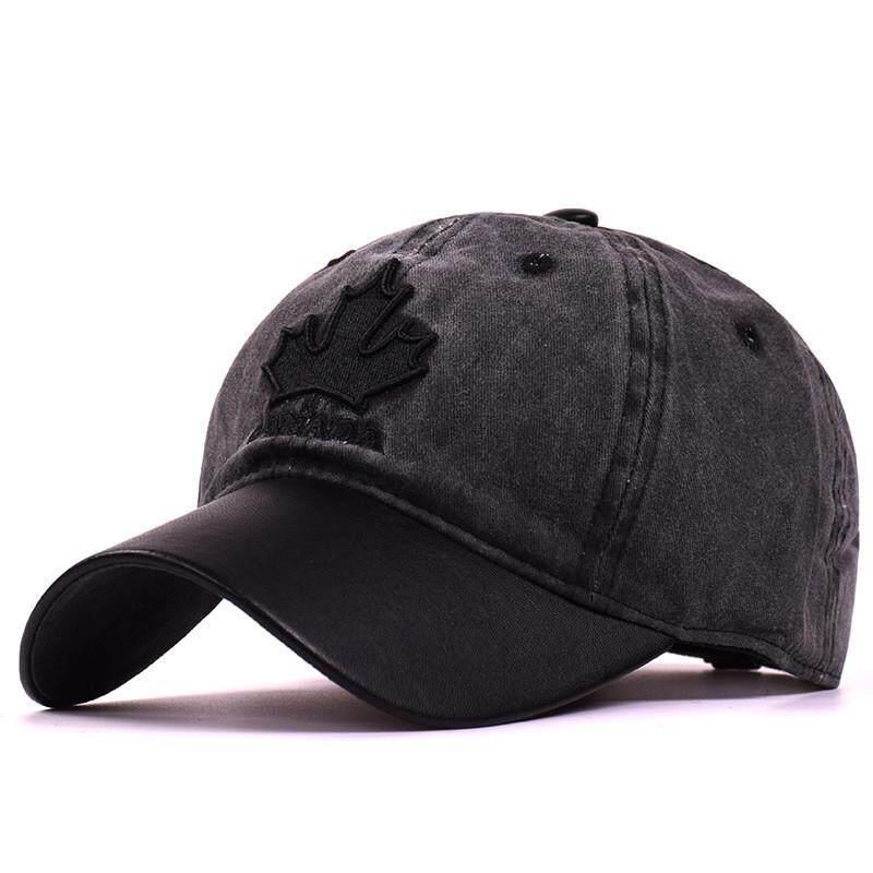 7eeacd747a9 Men Cotton Vintage Maple leaves Baseball Cap Casual Outdoor Windproof Warm  Hats Adjustable Sport Cap