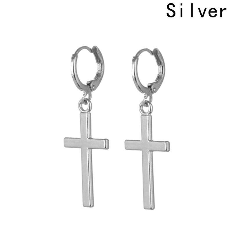 Bloomhd Men New Simple Glossy Cross Pendant Personality Fashion Earrings By Bloomhd.
