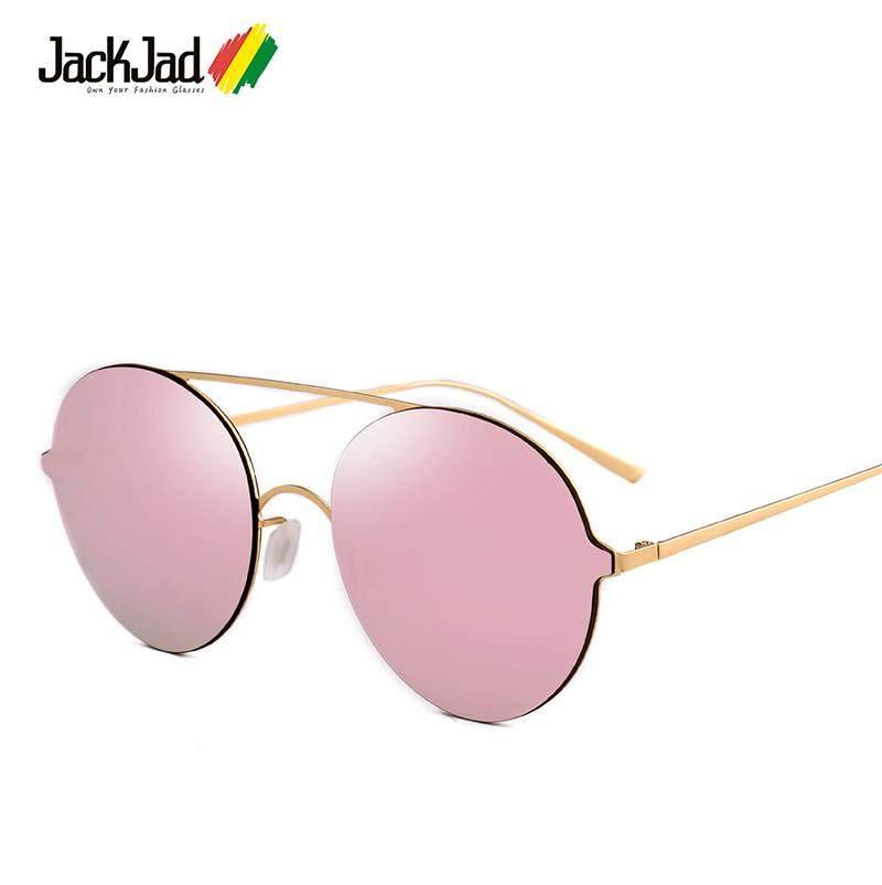 ec015a95ec8 JackJad New New Fashion Trend Cool Round Style Color Mirror Sunglasses  Women Men Brand Design Sun