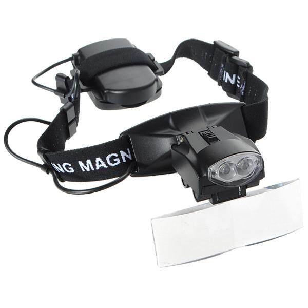 5 Lens LED Light Lamp Loop Head Headband Magnifier Magnifying Glass Loupe 1-3.5X