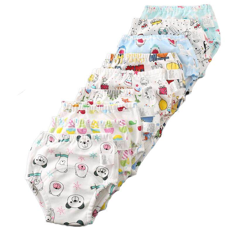 5pcs Waterproof 6layer Gauze Reusable Baby Infant Potty Training Pants Cotton Diaper Underclothes Toddler Kid Learning Nappy By Jinyun Company.