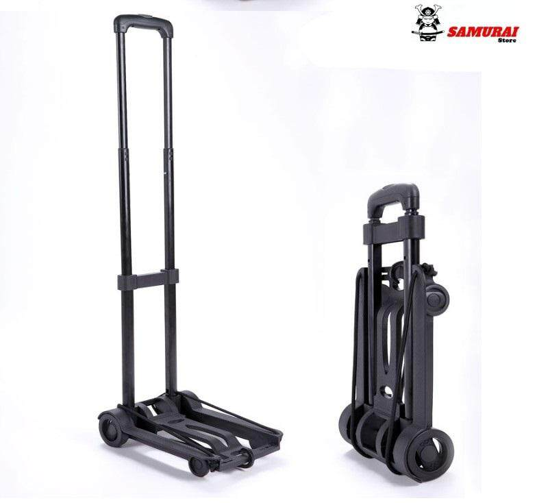 Mini Multi-Functional Fordable Trolley Shopping Cart Folding Travel Luggage Carrier Metal Trolley (iron) By Samurai Store.
