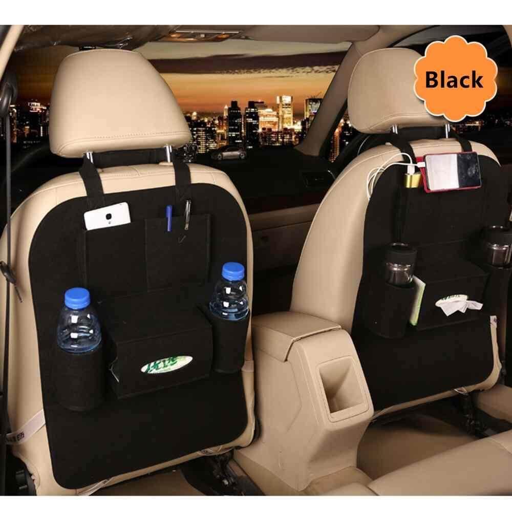 Car Auto Back Rear Trunk Seat Elastic Felt Storage Bag Pocket Organizer