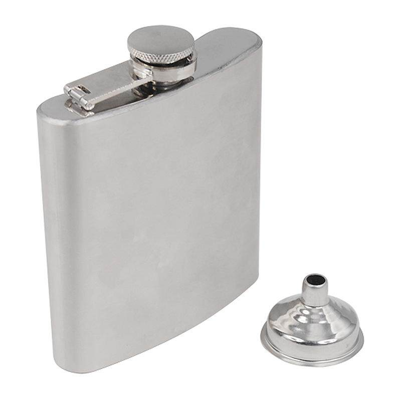 Stainless Steel Hip Liquor Whiskey Alcohol Pocket Flask Gift Box + Funnel By Jwerlyday