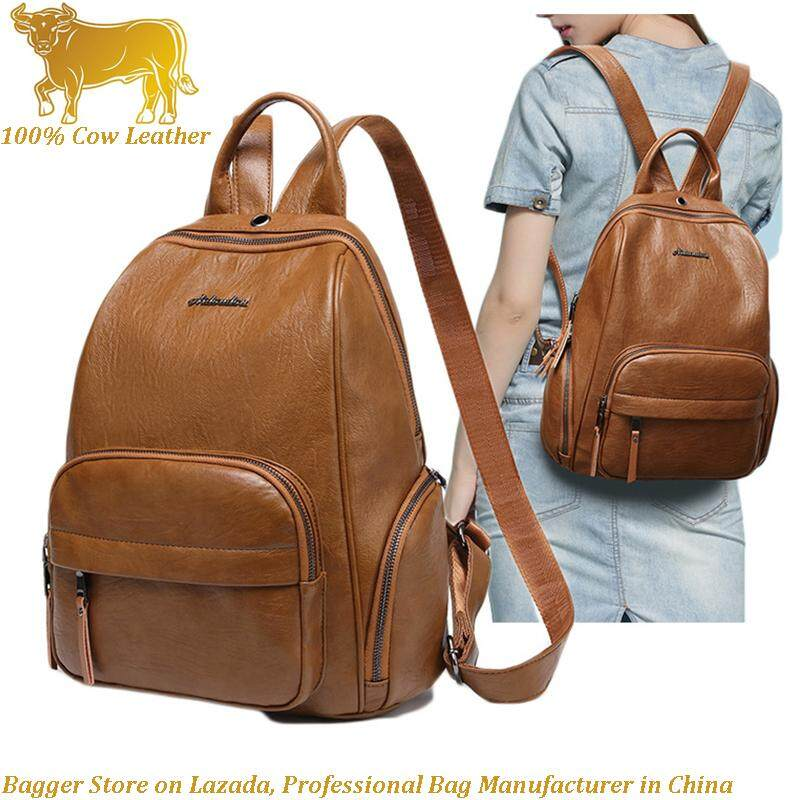 2018 New Goat Leather Sheepskin Ladies Backpack Multi-Function Practical Fashion  Travel Handbag Travelling Backpacks d0c04aa5b4143