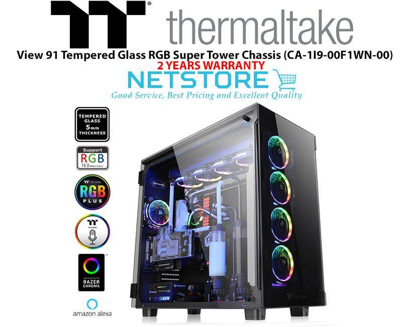 Thermaltake View 91 Tempered Glass RGB Edition Super Tower Chassis CA-1I9-00F1WN-00 Malaysia