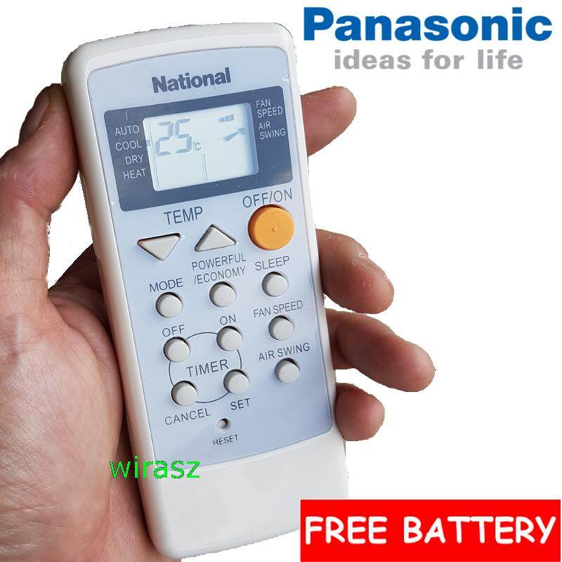 Panasonic National Air Cond Air Remote Control Air Con Conditioning A75c2160 Free Battery By Wirasz@lazada.com.