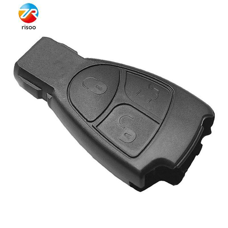 3 Buttons Remote Key Fob Shell Case For Mercedes Benz C B E S ML CL SL CLS SLK Key Protective Cover With Battery Holder