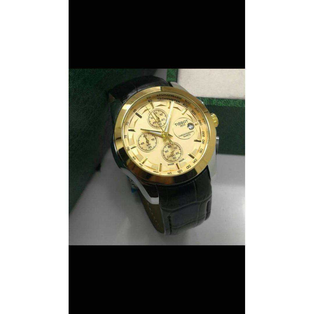 Extri X3010f Black Leather Jam Tangan Pria Daftar Harga Terkini Casio Beside Bem 109d 1avdf Stainless Steel Mens Couturier Swiss Quartz Watch With Golden Dial