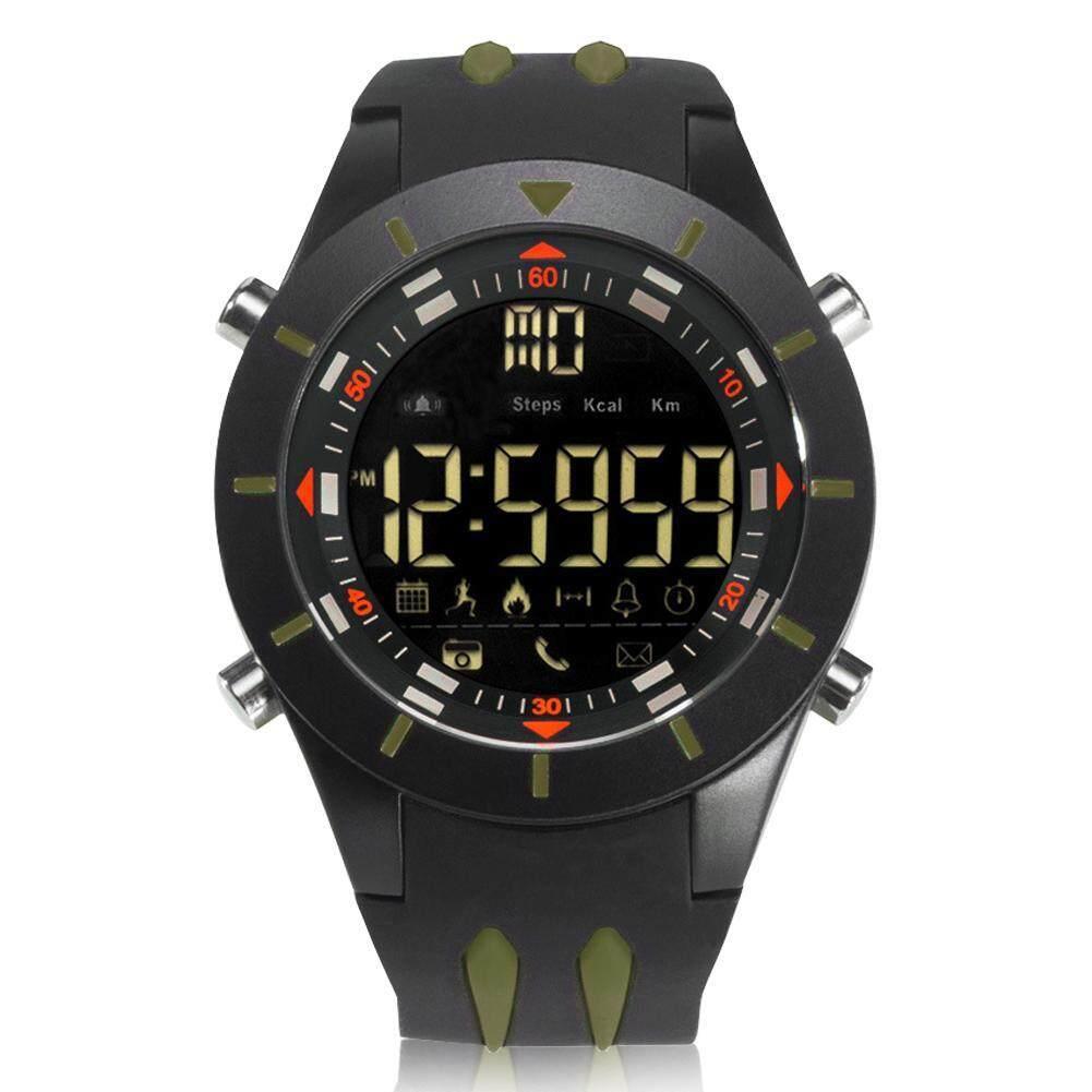Digital Bluetooth 4.0 Step Tracker Fitness Watch Electronic Smart Wristwatch (Army Green) Malaysia