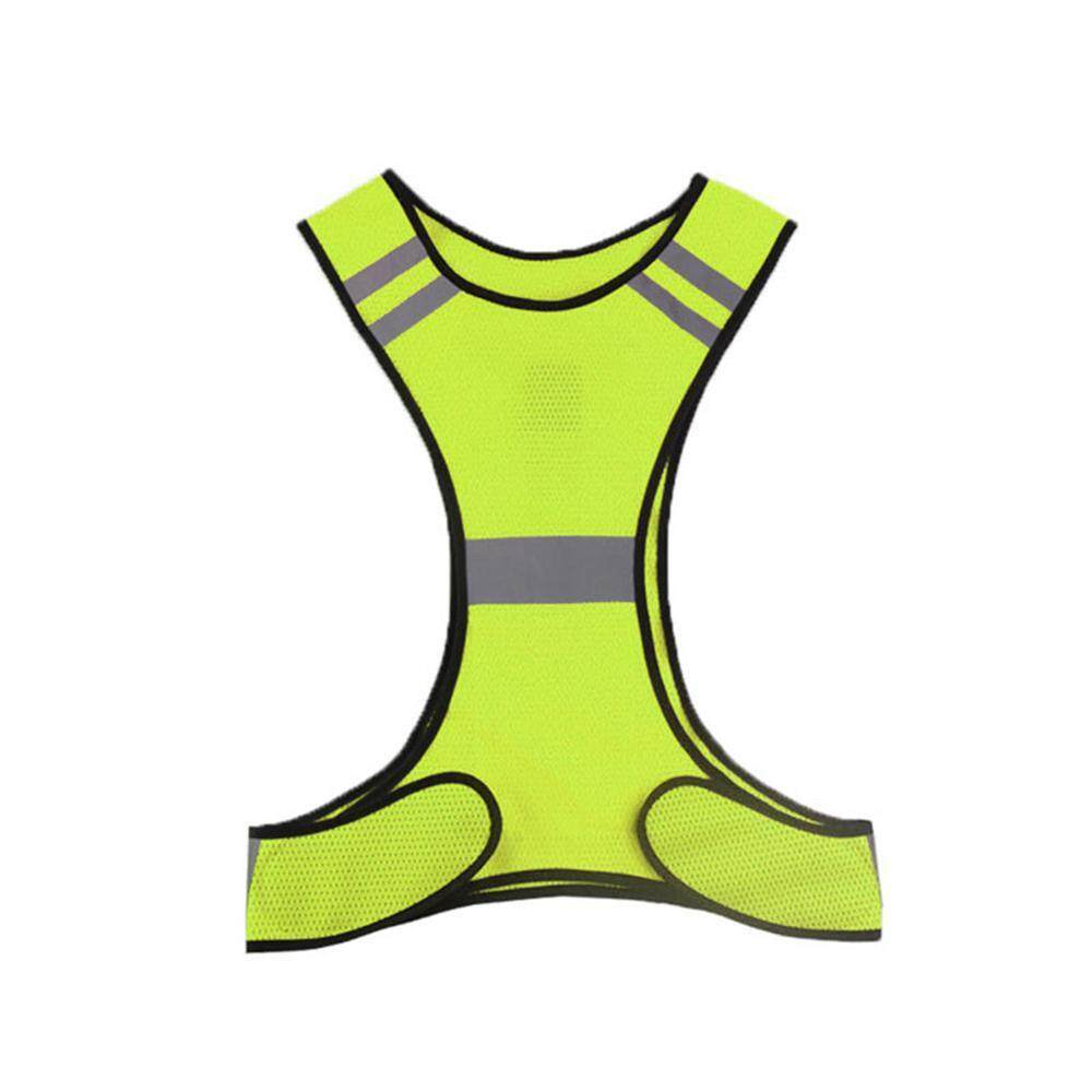 OutFlety High Visibility Reflective Safety Vest Running with LED Lights,Adjustable Reflective Vest Stripes with Inside Pocket for Night Cycling, Sport, Biking, Walking