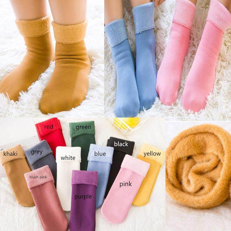 3-11 Years Children Wool Socks For Boy Girl Kids Toddler Thick Velvet Thermal Warm Cotton Winter Crew Socks By Ying Jin.