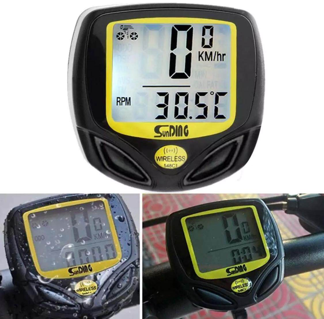 New Wireless Bicycle Cycling Computer Speedometer Odometer Meter Cycling Meter Waterproof Bicycle Speedometer Wireless By Exadeal.