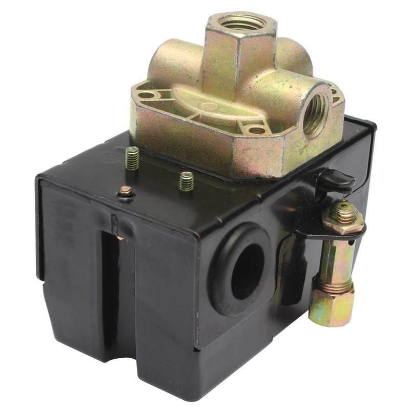 90-125PSI 4 Port 26 AMP Pressure Switch Control Valve Air Compressor Heavy Duty Black