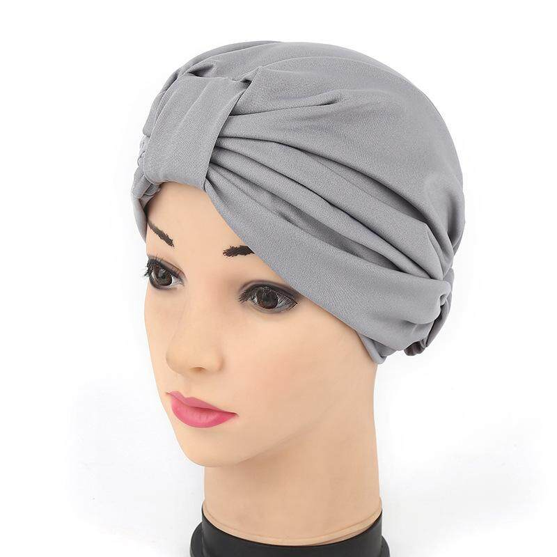 37086ea4acb New Style Elastic Thin Cap India Hat Muslim Headscarf Baotou Cap