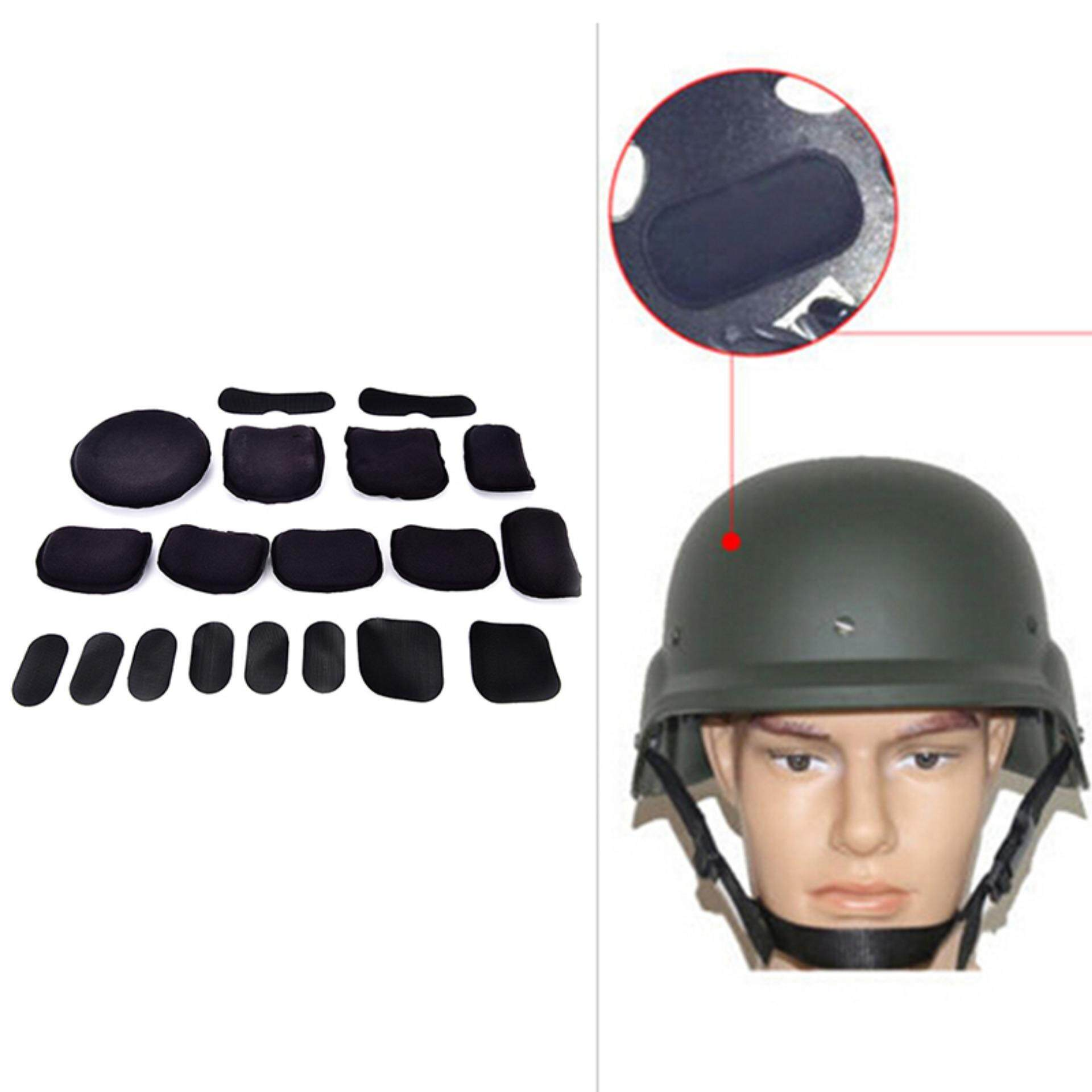 Veli Shy 19pcs Black Eva Foam Pad Cushion For Tactical Airsoft Military Cycling Helmet By Veli Shy.